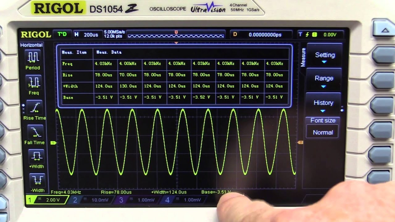 rigol DS1054Z cover front facing oscilloscope