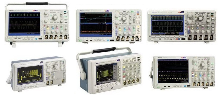 picture of a group of oscilloscopes