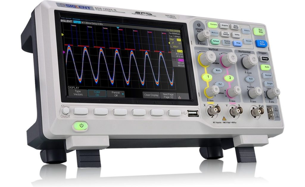 siglent 1202xe oscilloscope